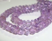 Rose de France Lavender Pink Amethyst Faceted Organic Rondelle, Full Strand, 3.5-4mm
