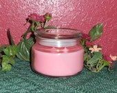 Beautiful (Women's Type) Scented Jar Candle with Flat Glass Lid, 10 oz.