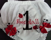 Custom Bloomers..LITTLE LADYBUG...any color...any theme...diaper covers...monogramed...dress up..matches tutu set