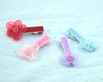 4 flower clips