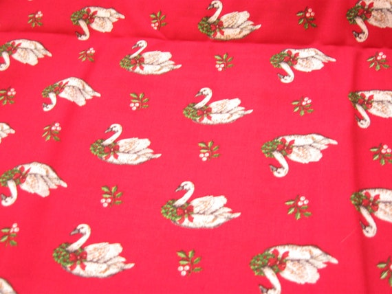 Christmas Geese Cranston Print Works Fabric Yardage