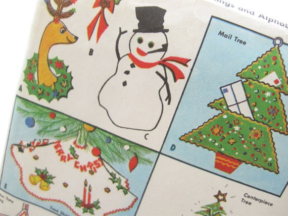 Retro Christmas Decorations Vintage Factory Folds Sewing Pattern: McCall's 2087