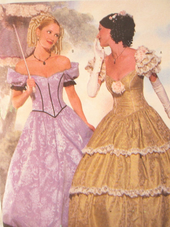 Adult Princess Costume Sewing Pattern Factory Folds: Butterick 6195 Bust 44