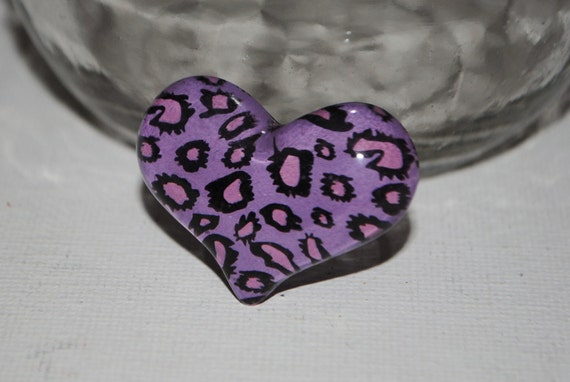Aninimal Book: Purple and Pink Leopard Print Heart Adjustable Ring by ...