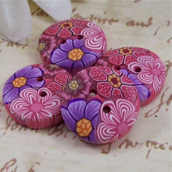 Handmade Polymer Clay Buttons