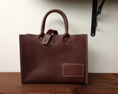 Mini mart leather small tote purse - free shipping - CLEARANCE SALE