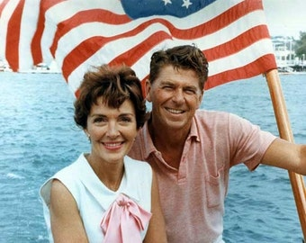 Ronald and Nancy Reagan Vintage image suitable for framing 8 1/2 x 11 reproduction image
