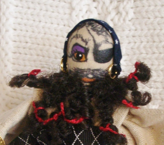 Cloth Doll Miniature Pin Doll Ornament Halloween PIRATE PETE 5-Inch Collectible