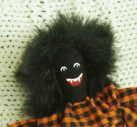 Cloth Doll Miniature Pin Doll and Ornament Halloween WOLFIE THE WEREWOLF 6-Inch Collectible