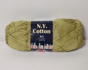 N.Y. Yarns 100% Cotton Mercerized Yarn Color No. 09 CELERY DISCONTINUED