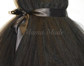 SHIN LENGTH Little Black Tutu Dress Size Black Tutu Dress Flower Girl Tutu Dress Little Black Dress Tea Length Tutu Dress Black Flower Girl