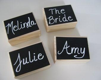 Set of 2 Rustic Ring Bearer Box Bridesmaid Gift  Box, Jewelry Keepsake Gift Box Chalkboard Lid Bride Ring Box You Personalize SET OF 2