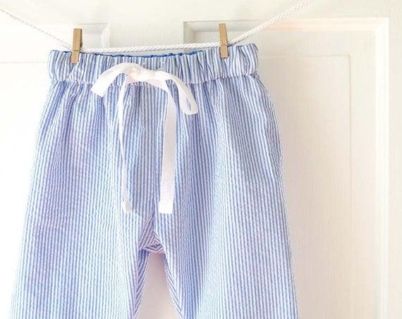 Baby Boy Pants Blue Amp White Seersucker Stripe Nautical Baby