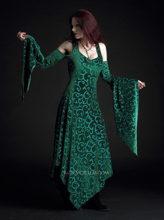 Kadri Faerie Gown in Velvet - Custom Romantic Gothic and Faerie Clothing