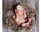 Flower halo headband- newborn photo prop