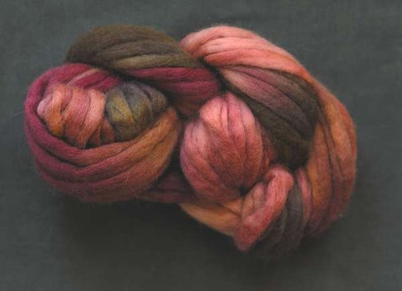 Fractal Roving for Spinning - Grey's Analogy Fall 115g (4oz)