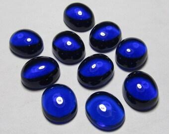 10x12 mm Oval - Gorgeous Kashmir Sapphire Blue Colour - Quartz - eye Clean Cabochon 10 pcs
