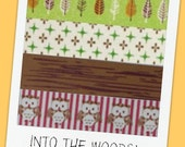 INTO the WOODS with Indie - 4 pack set of WashiTape (15mm x 10m)