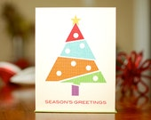 Holiday Geometree - Set of 10 Holiday Cards on 100% Recycled Paper