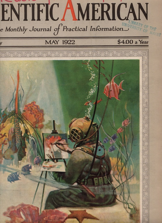 Deep Sea Diver Cover Art Underwater Scene 1922 To Frame