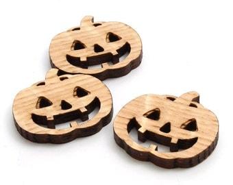 "Mini Jack-O-Lantern Beads - 1 1/2"" Size - Laser Cut Wood - Etsy Itsies by Timber Green Woods"