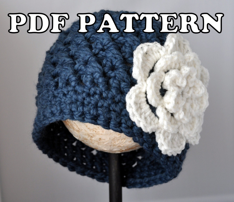 Pdf Pattern Chunky Flowered Cloche