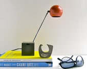 60s Lightolier design lamp - Lytegem desk lamp - Hermes orange/persimmon - New Old Stock - Mad Men office