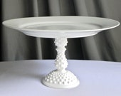 Cake Stand Cupcake Vintage Milk Glass Wedding Decor.All Dressed In White By E. Isabella Designs. As Featured In Martha Stewart Weddings