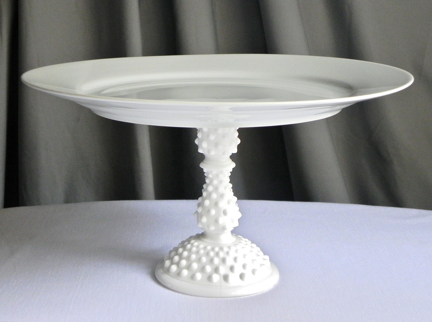 Cake Stand Cupcake Vintage Milk Glass Wedding Decor All