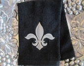 Napoleonic Fleur de Lis - Fingertip Velour Bathroom Towel 11x18 - JD Designs