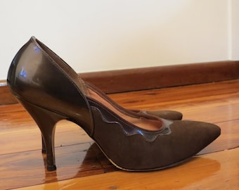 Vintage 1950s The American Girl Shoe Leather Stiletto Heels