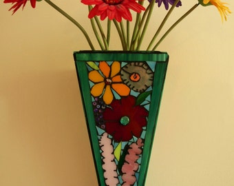 Mosaic Wildflower Sconce