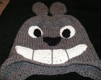 Totoro Earflap Beanie (Made to Order)