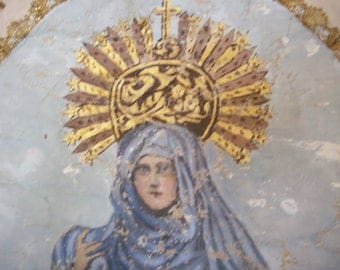 Breathtaking late 1800s Spanish processional banner