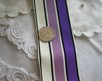 "1 yd. of antique striped grosgrain ribbon 2 "" or 3"""