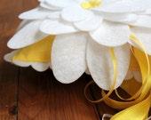 Wedding Ring Bearer Pillow, Romantic Felt Lotus Flower