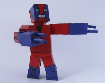 Cardboard Lucha Libre Robot - Demonio Rojo