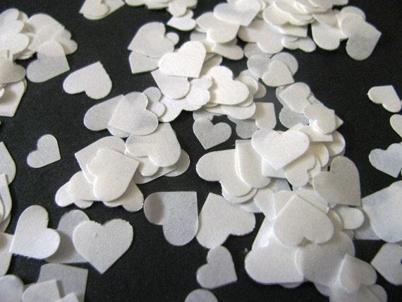 5,000 Dissolving/Biodegradable MINI ASSORTED HEART shape confetti