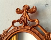 Decorative Mirror in Vintage Bright Copper Penny Frame - Revived Vintage