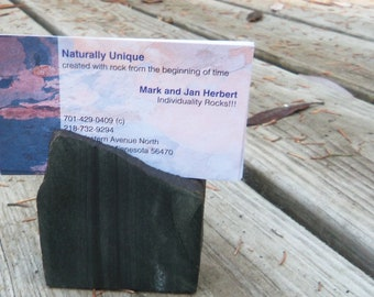 Business Card Holder of Minnesota Taconite, Recipe Holder, Photo Display Stand, Magnet Perch