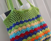 SALE Colorful Beach or Market Bag Tote