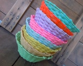 Vintage Baskets Spring Vinyl Coated Wire Colorful Set of 8 Instant Collection Multi Color Rainbow Easter Decor