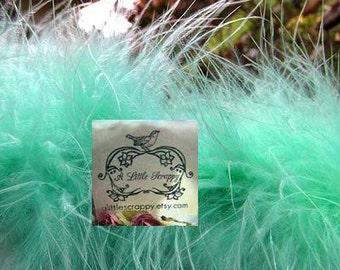 Marabou Boa Feathers Mint Green