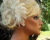 Wedding Fascinator, Bridal Veil, Ivory Fascinator, Champagne Hair Clip, White Fascinator, Wedding Veil, Birdcage Bridal Veil, Wedding Set