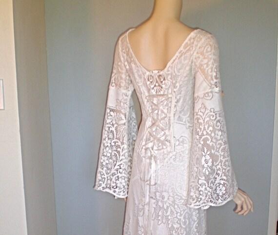 Renaissance Festival Wedding Dresses: Renaissance Vintage Sheer LACE Wedding FESTIVAL Dress Corset