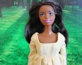 Yelllow Polka-dot Regency Gown for Barbie