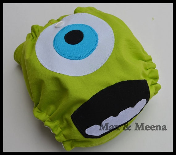 Mike Wazowski---- Monsters Inc.---- ONESIZE AI2 with snap in insert