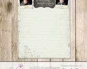 16x20 Magnet/Dry Erase Board Template - PSD - Chalk Notes