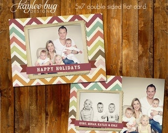 5x7 Holiday Card PSD Template - Holiday Cheer