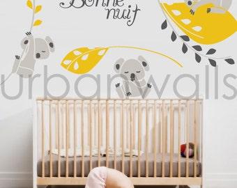 Vinyl Wall Sticker Decal Art - Koala Nighty Night